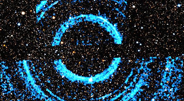 Un énorme spot annulaire pour l'observatoire à rayons X Chandra de la NASA autour d'un trou noir